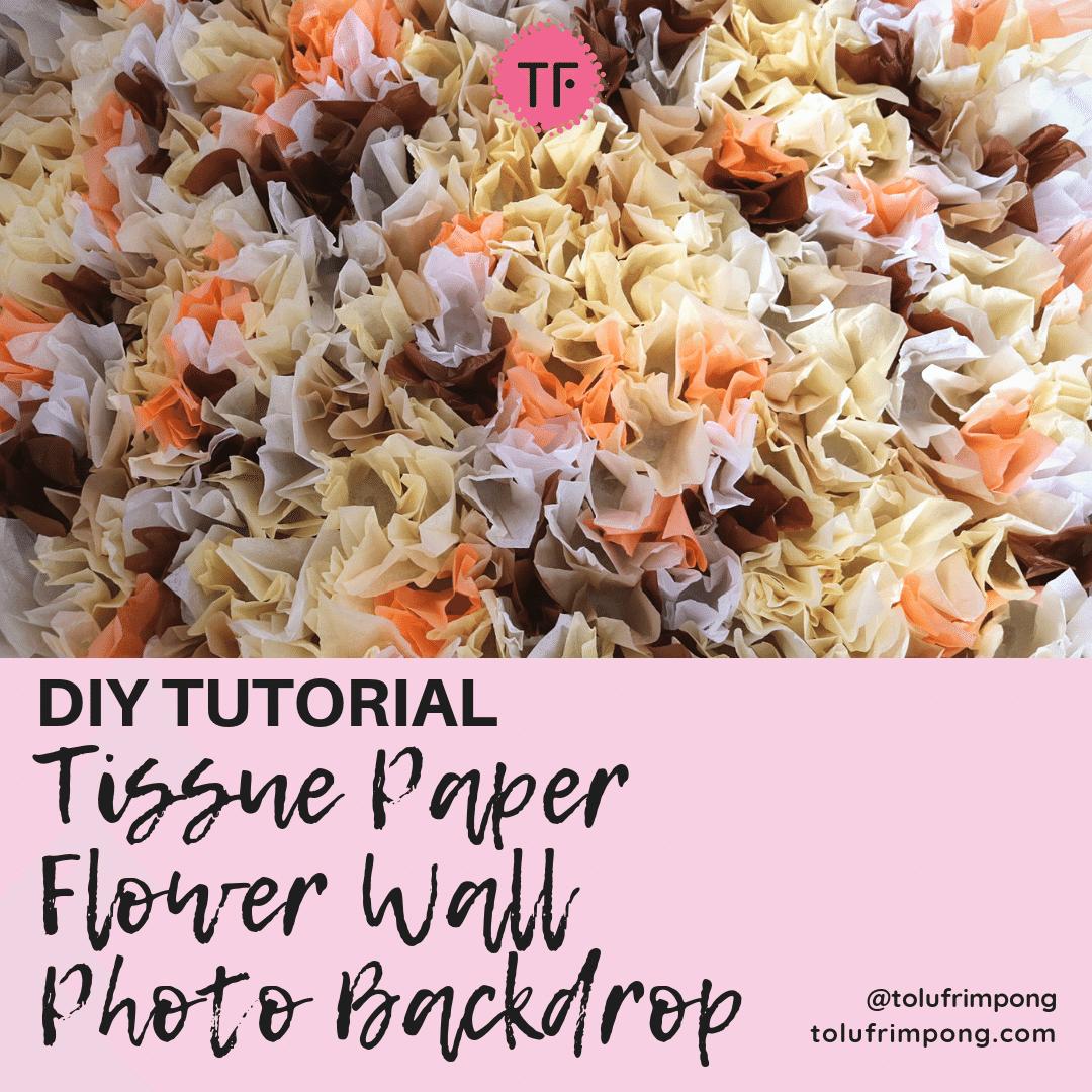 DIY Tissue Paper Flower Wall Photo Backdrop-min