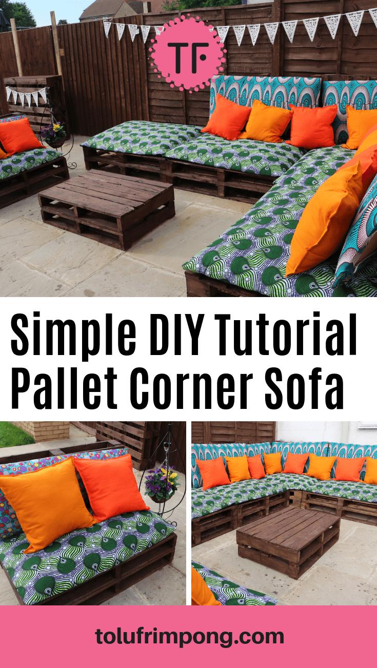 simple DIY Pallet corner sectional sofa garden outdoor tutorial pinterest-min