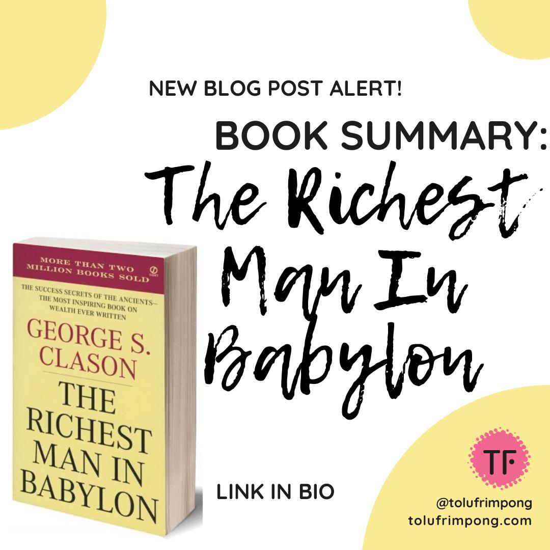 The Richest Man In Babylon - Book Su