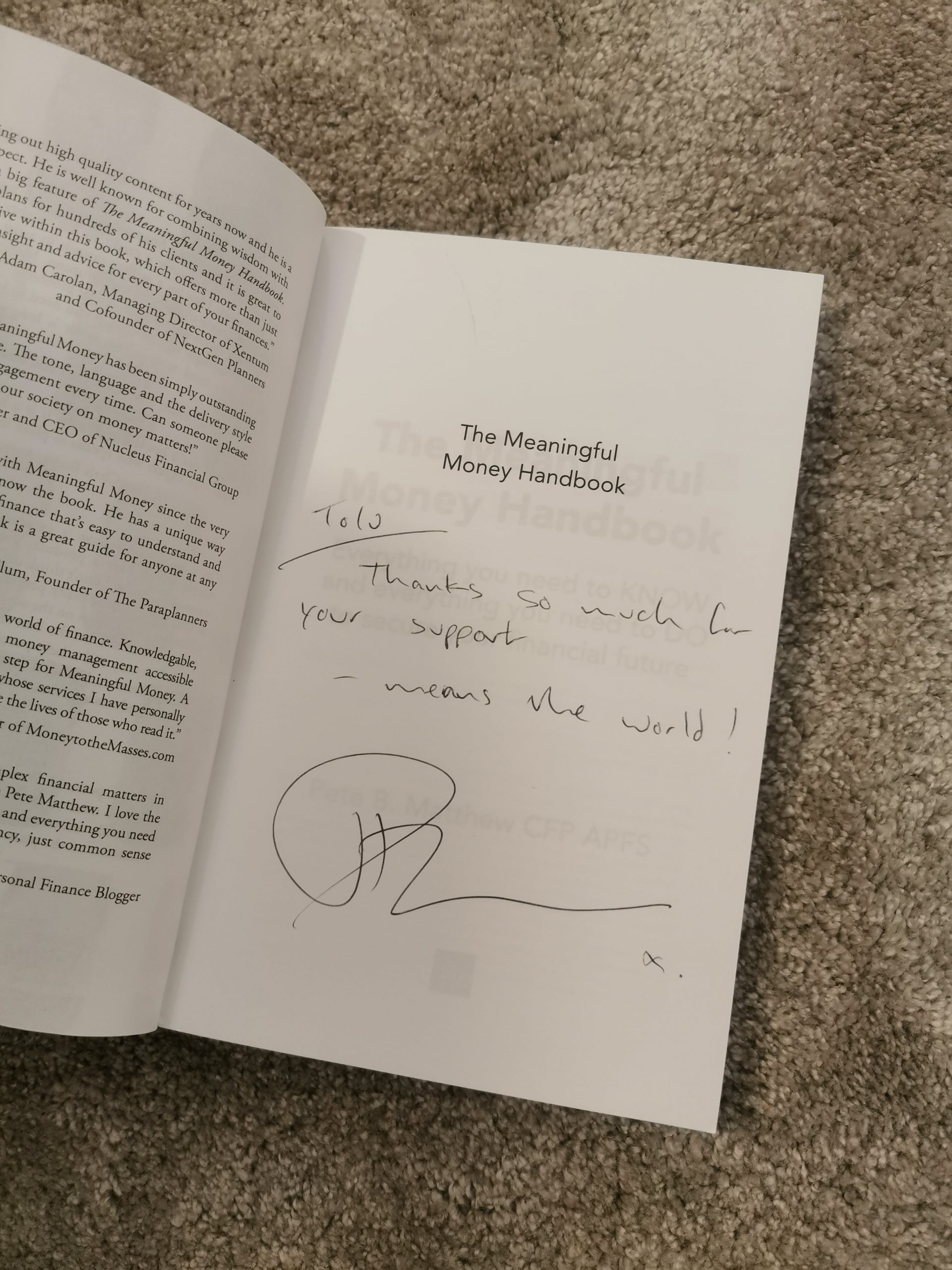 Tolu Book Review - The Meaningful Money Handbook