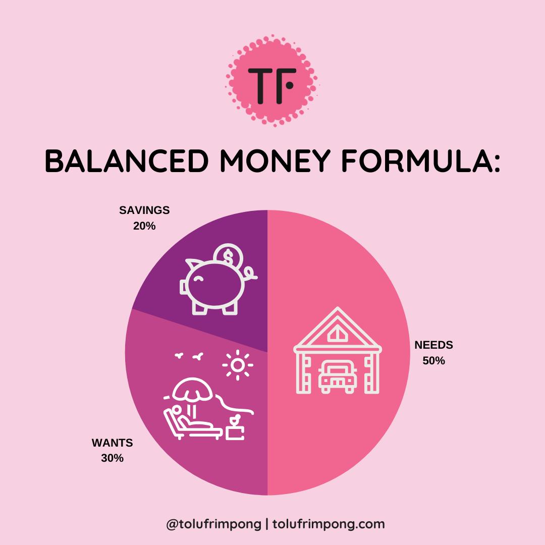 All your worth balanced money formula 50 30 20 tolu frimpong