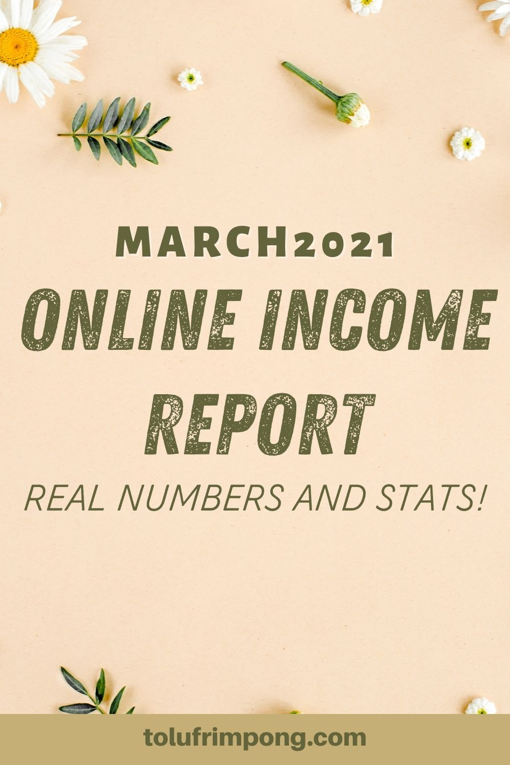March 2021 Online Income Report Tolu Frimpong