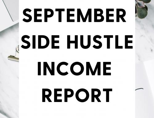 September 2021 Side Hustle Online Income Report